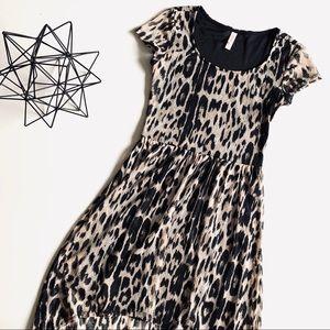 Xhilaration Animal Print High Low Lace Dress